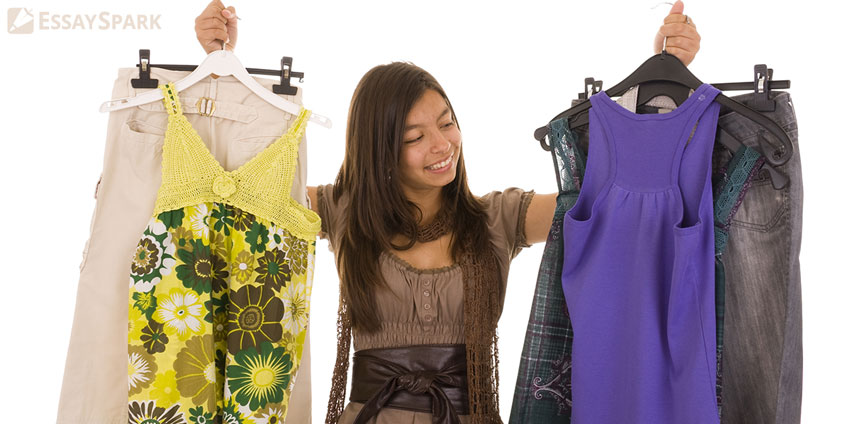 Student Choosing Clothes